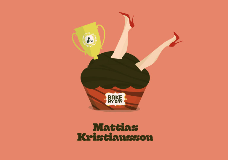 Mattias Kristansson Bake My Day Matbloggspriset. Illustation Christopher Anderton